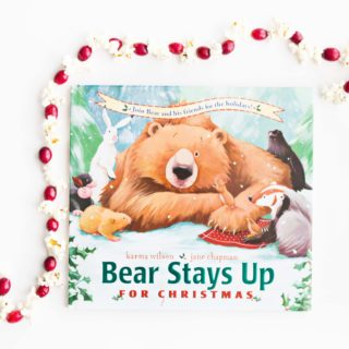 Bear Stays Up for Christmas and Popcorn Garlands