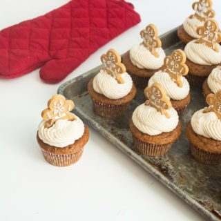 Spiced Gingerbread Cupcakes