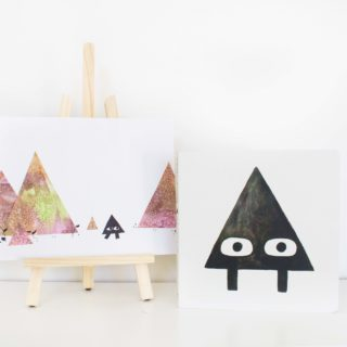 """Salt Watercolor Art inspired by """"Triangle"""""""