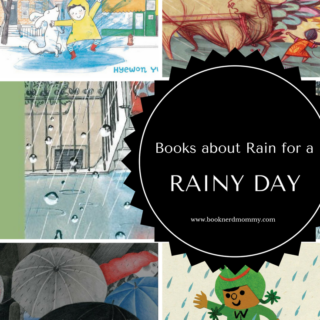Picture book list with books about rain. Perfect for rainy days!