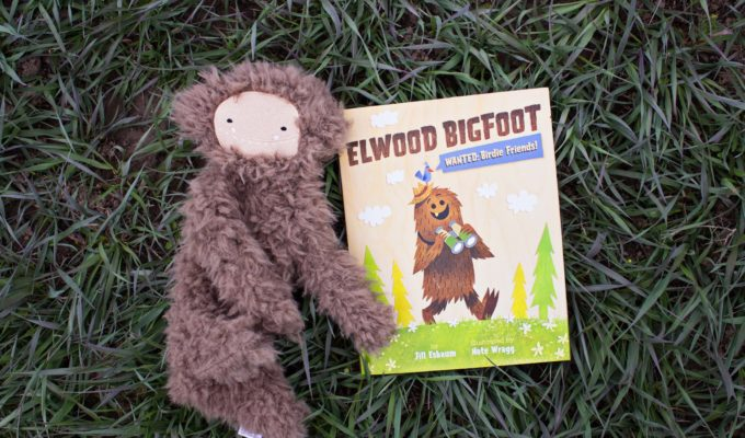 """Elwood Bigfoot: Wanted:Birdie Friends!"" paired with Slumberkin Bigfoot"