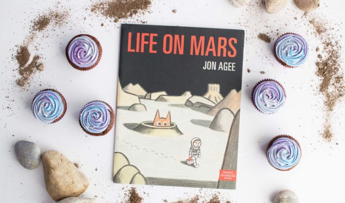 """Life on Mars"" with Galaxy Cupcakes"