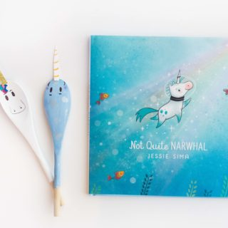 """DIY Spoon Puppets inspired by """"Not Quite Narwhal"""""""