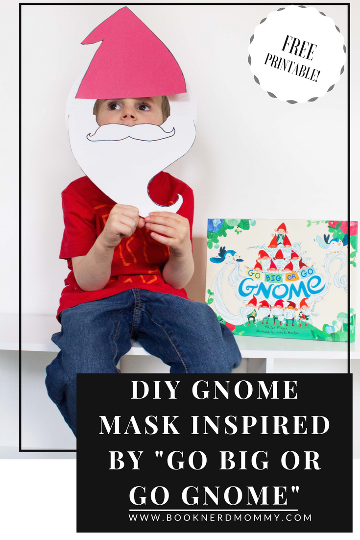 "DIY paper plate gnome mask inspired by ""Go Big or Go Gnome"". Super easy and fun to do, perfect for your little gnomes!"