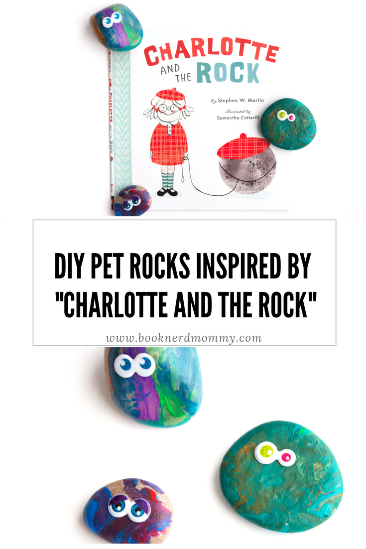 """These basic DIY pet rocks make a great companion activity with the book """"Charlotte and the Rock"""".  Plus, they are so much fun for preschoolers and young children for craft time!"""
