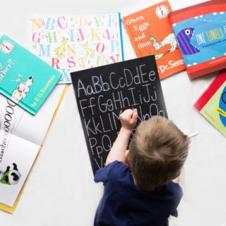 ABC Trace-n-Erase Chalkboard from Chalkfull of Design