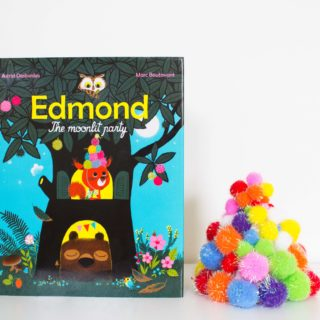 """DIY Pom Pom Party Hats inspired by """"Edmond, The Moonlit Party"""""""